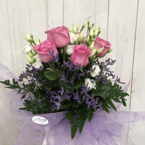 Bouquet di Rose e Lisianthus