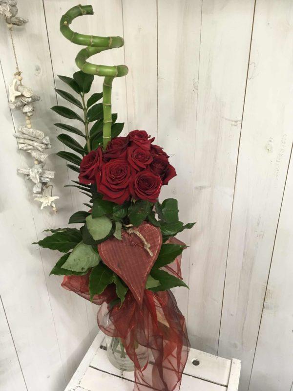 Mazzso rose rosse